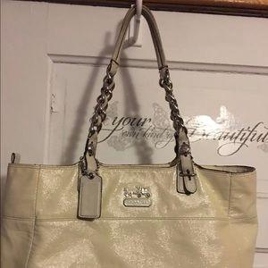 Coach cream colored Shoulder Bag